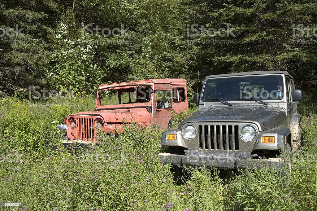 Jeep - Then and Now royalty-free stock photo