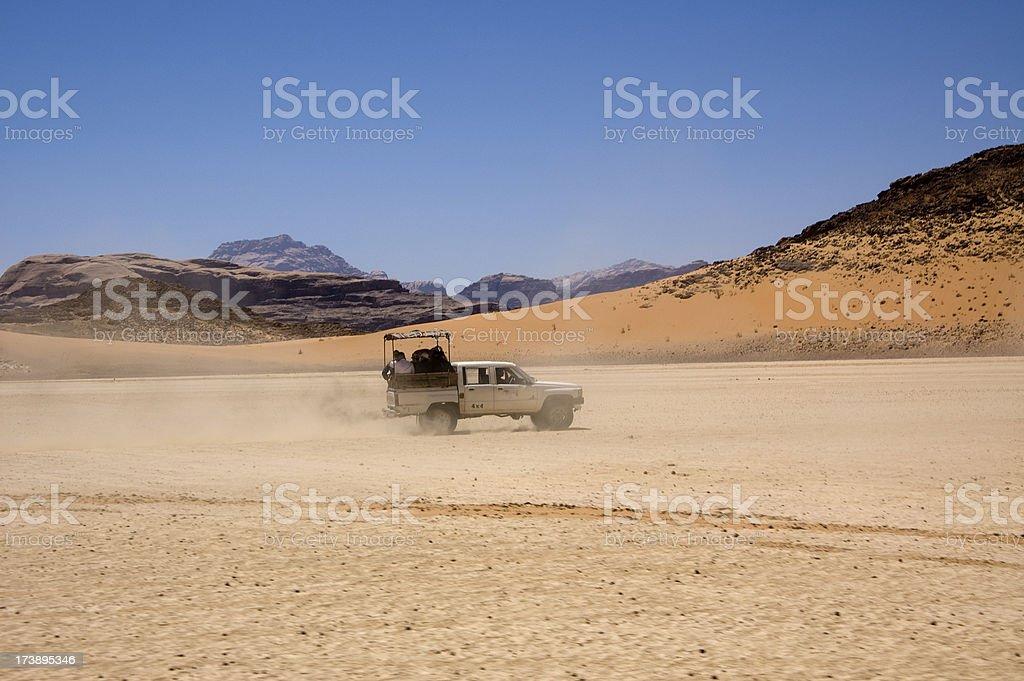 Jeep Tour in Arabian Desert royalty-free stock photo
