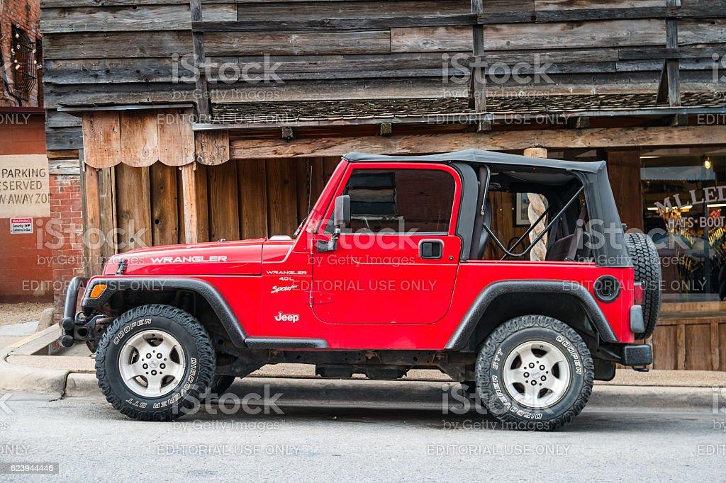 Jeep Wrangler TJ 4.0 L Sport Convertible stock photo