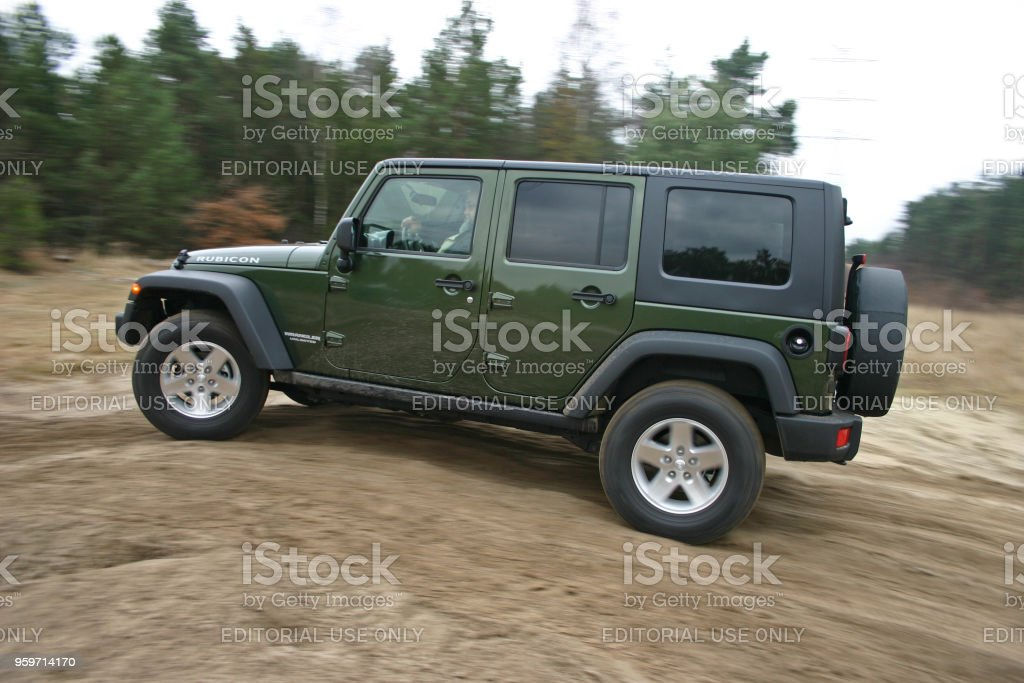 Jeep Wrangler Unlimited in motion