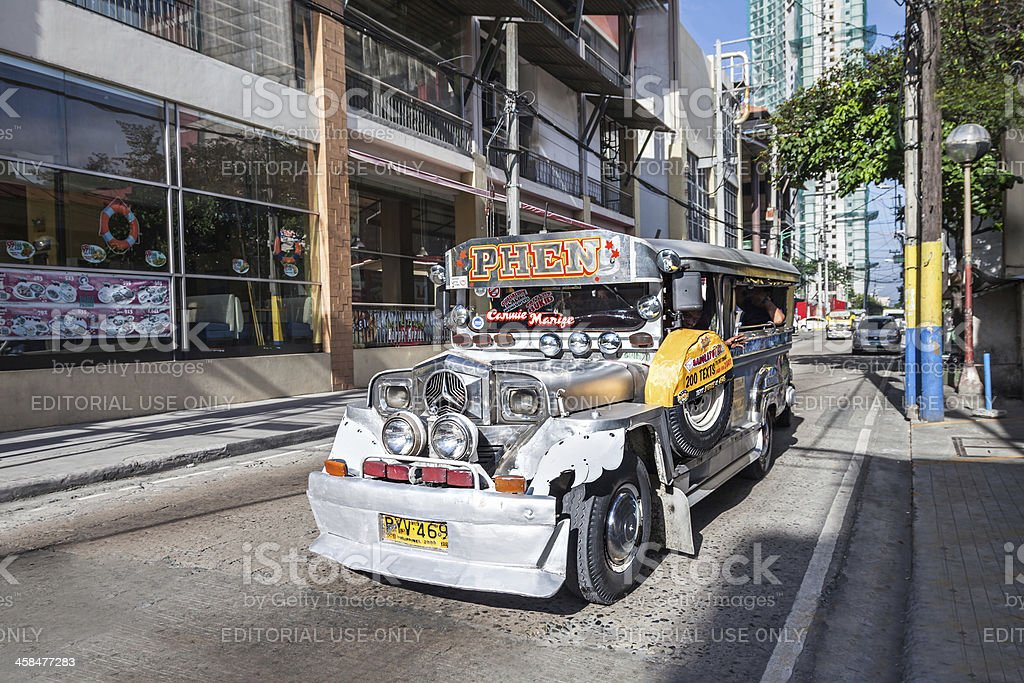 Jeepney royalty-free stock photo
