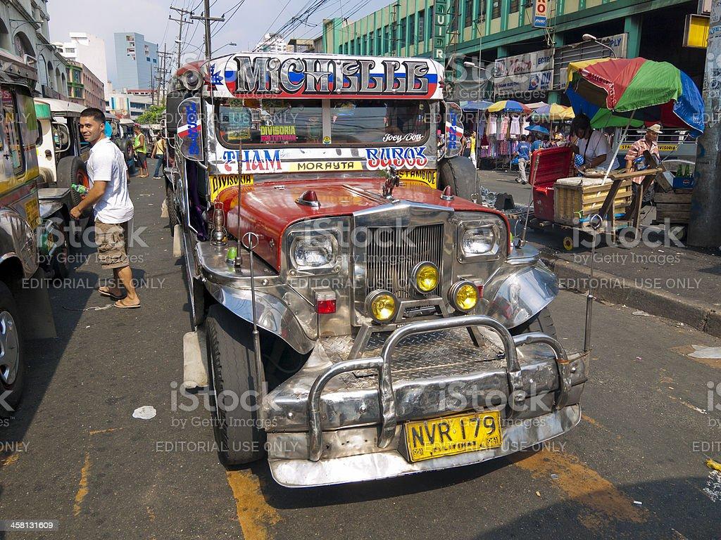 Jeepney Traffic in central Manila royalty-free stock photo