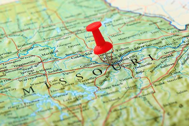 Jefferson City, Missouri, USA-Karte – Foto