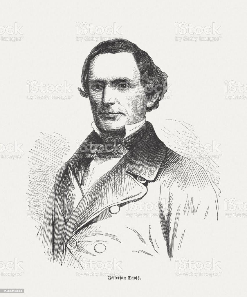 Jefferson Davis (1808-1889), President of the Confederate States of America stock photo