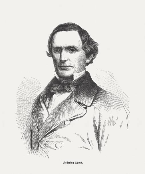 Jefferson Davis (1808-1889), President of the Confederate States of America – Foto