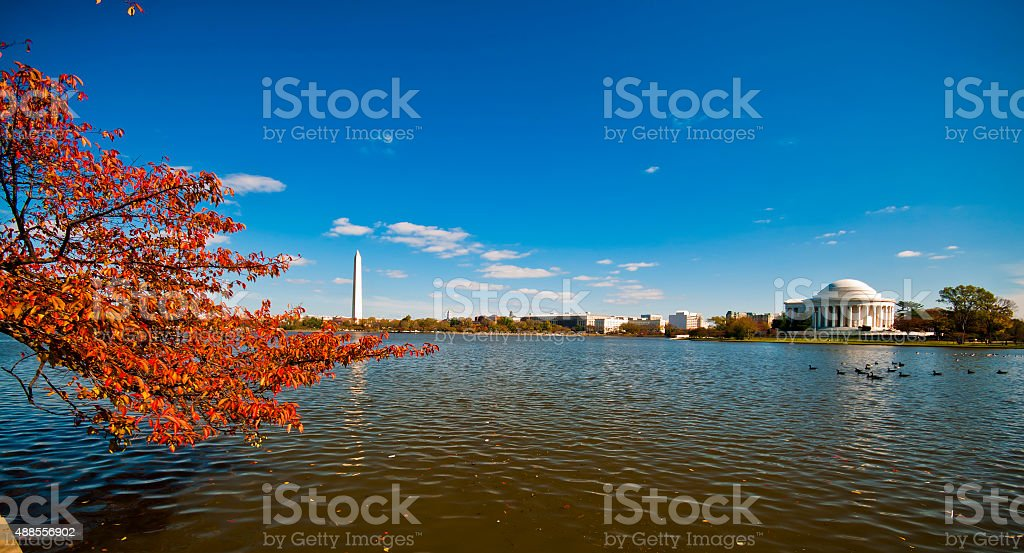 Jefferson Memorial and the Tidal Basin stock photo