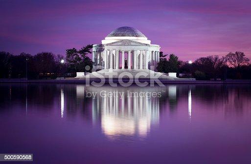 Jefferson memorial at dusk - Washington DC