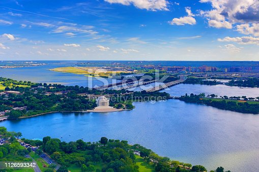 Jefferson Memorial from Above