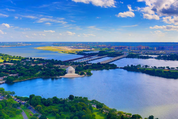 Jefferson Memorial from Above stock photo