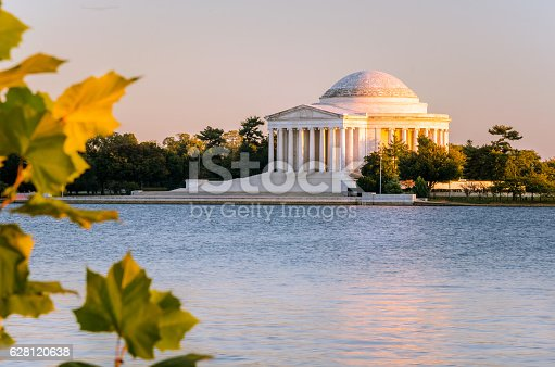 Photo of Thomas Jefferson Memorial and Tidal Basin at Sunset. Washington DC, USA