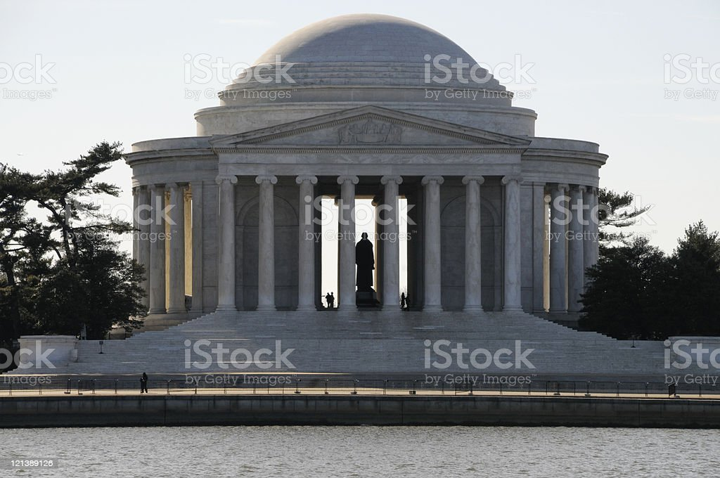 Jefferson Memorial National Monument In The Early Morning Hours royalty-free stock photo