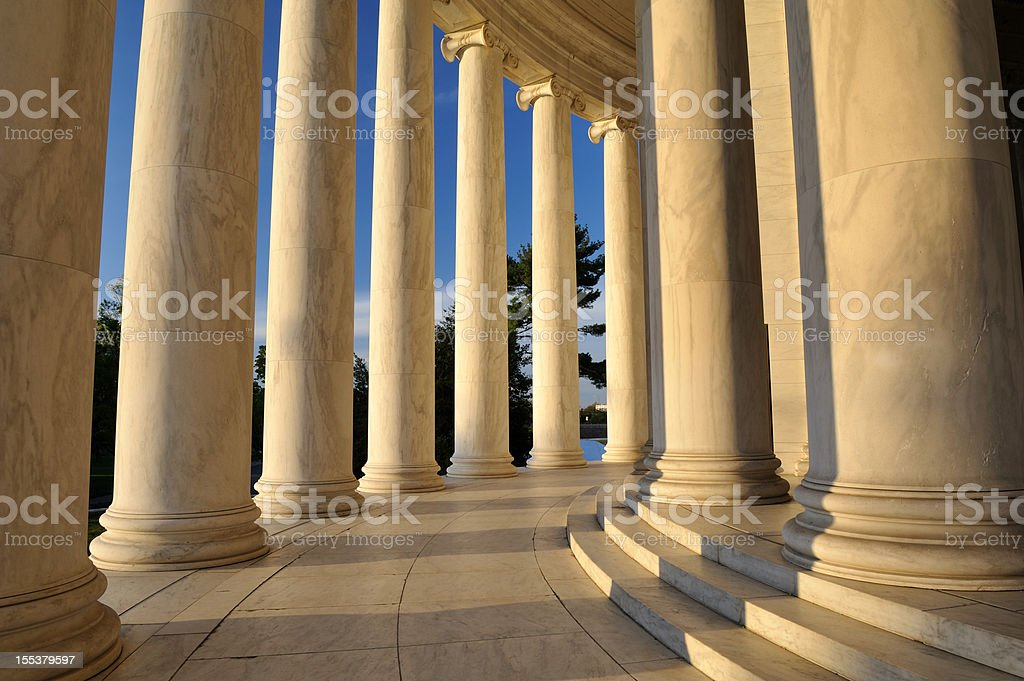 Jefferson Memorial stock photo