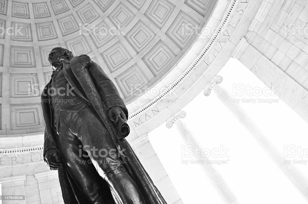 Jefferson Monument Under Rotunda stock photo