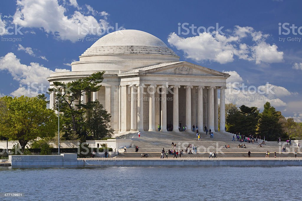 Jefferson Monument, Washington DC royalty-free stock photo