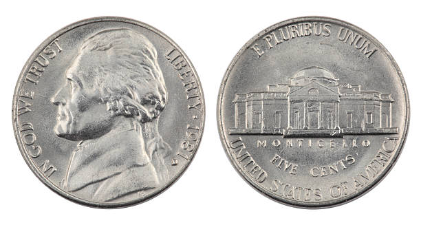 jefferson nickel - nickel stock photos and pictures