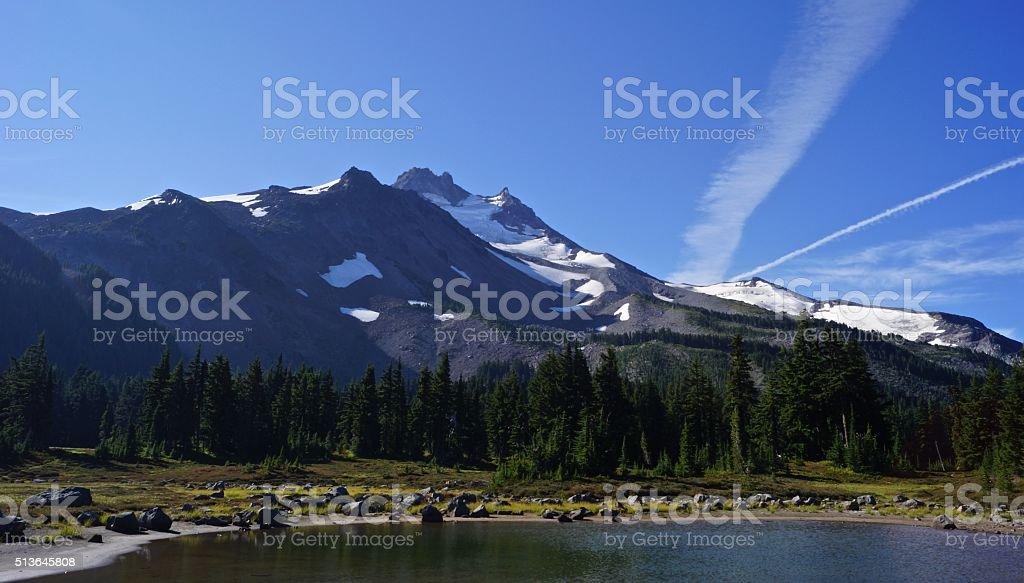 Jefferson Park Lake stock photo