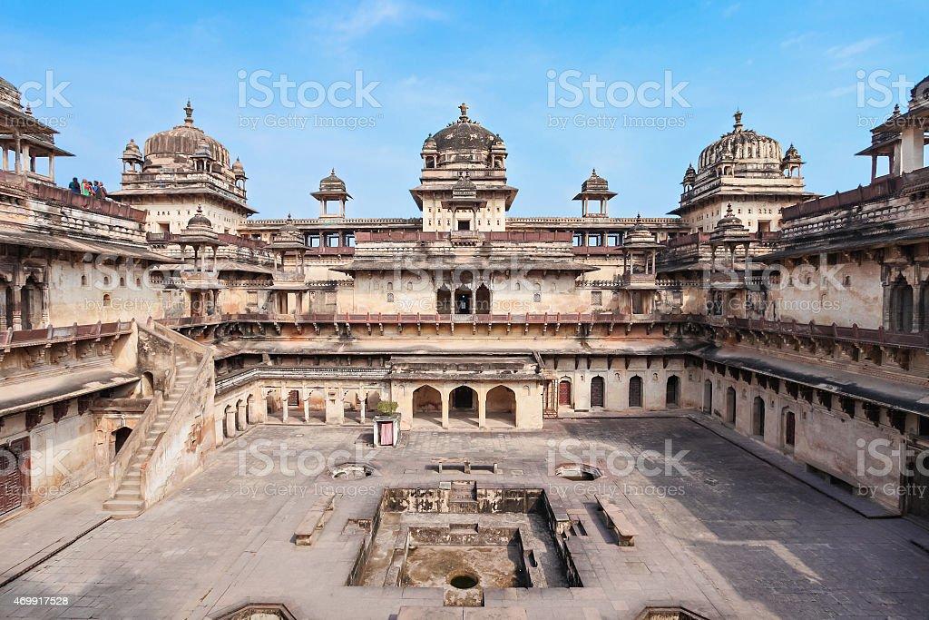 Jehangir Mahal (Orchha Fort) in Orchha, India stock photo