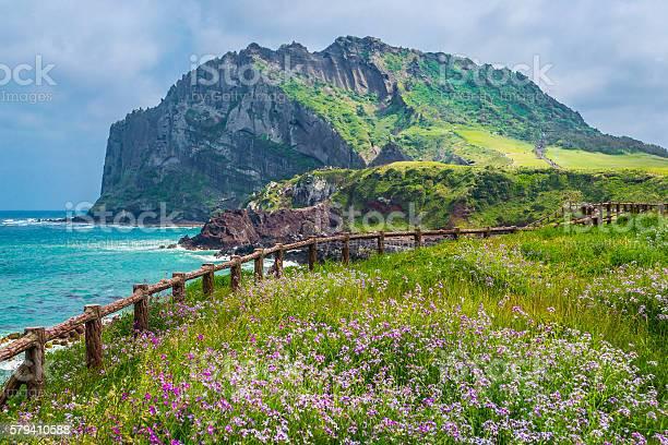 Seongsan Ilchulbong Peak on Jeju Island, South Korea