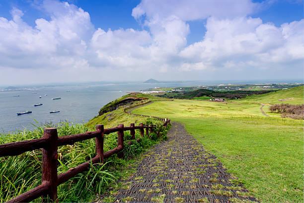 jeju island, south korea - jeju island stock photos and pictures