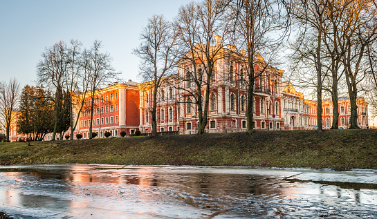Jelgava Palace or Mitava Palace in Latvia