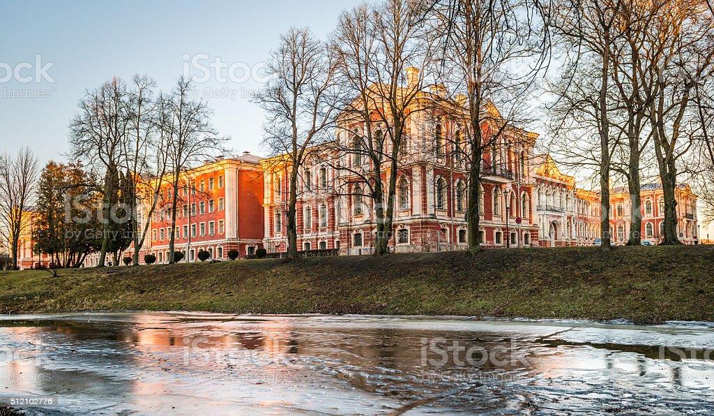 Jelgava Palace or Mitava Palace in Latvia stock photo