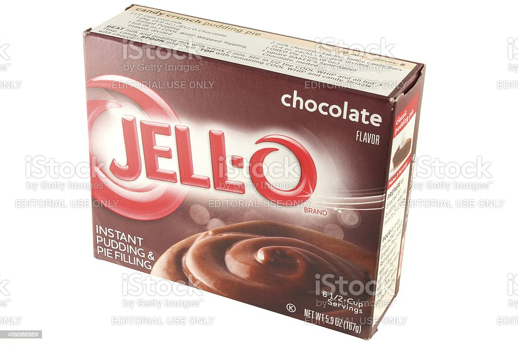 Jell-o Brand Instant Chocolate Pudding Mix royalty-free stock photo