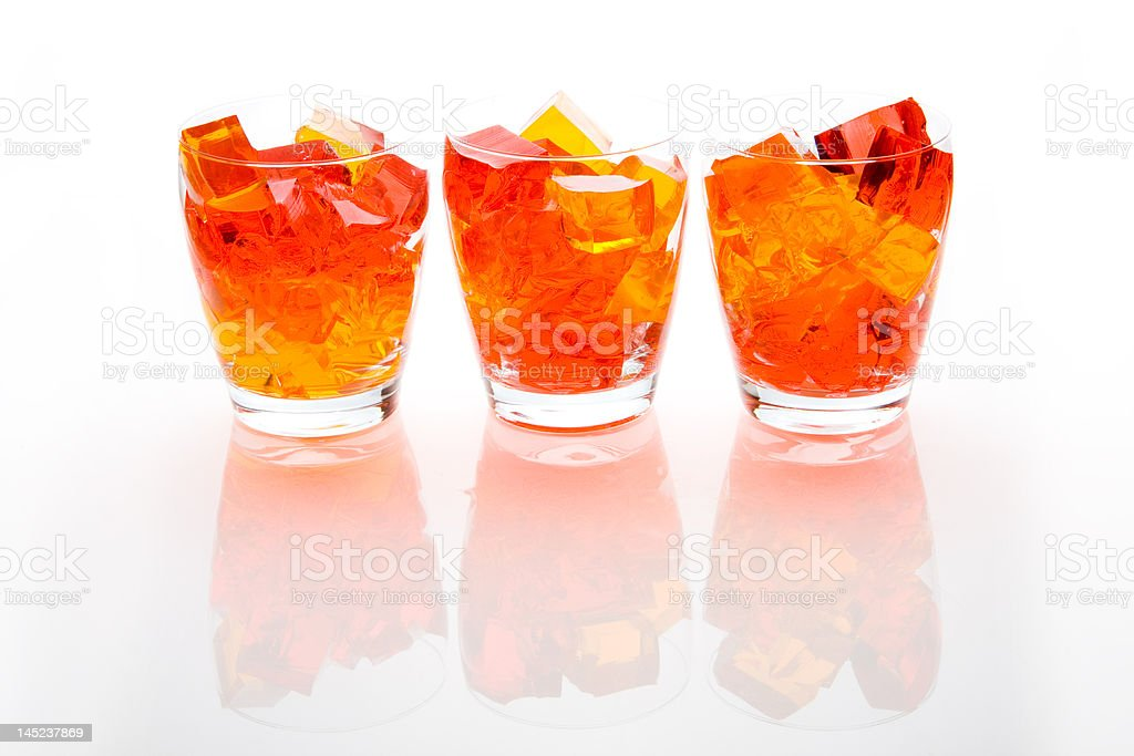Jello In Glassed royalty-free stock photo