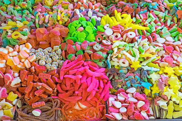 Gelee und Süßigkeiten zum Verkauf  – Foto