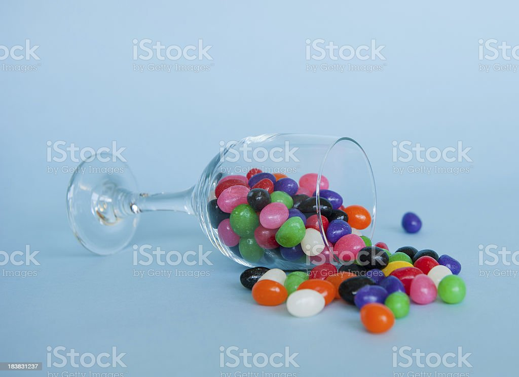 Jelly bean jar stock photo