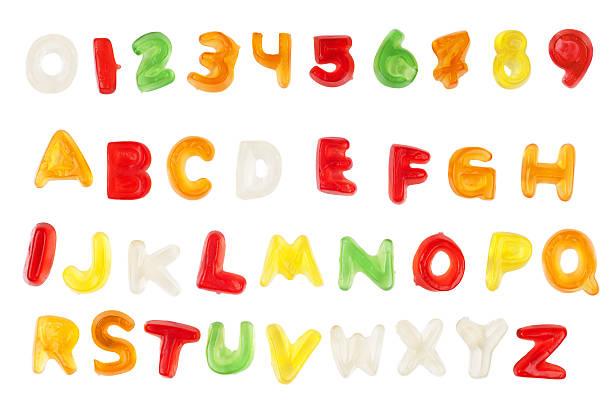 Gelee Süßigkeiten alphabet – Foto