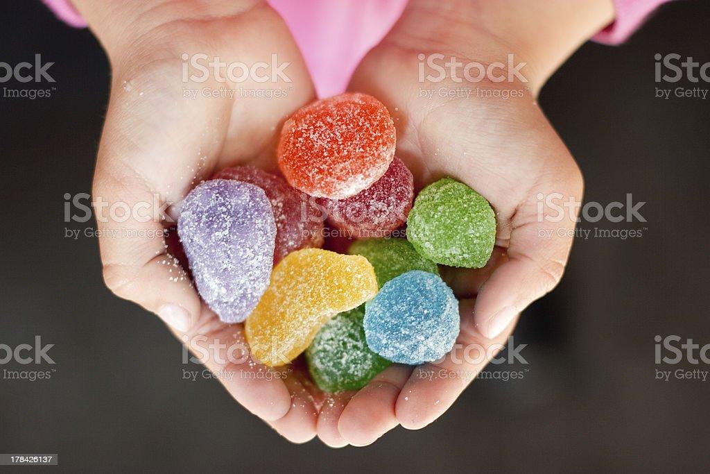 Jelly dulces manos de niño - Foto de stock de Dulces libre de derechos