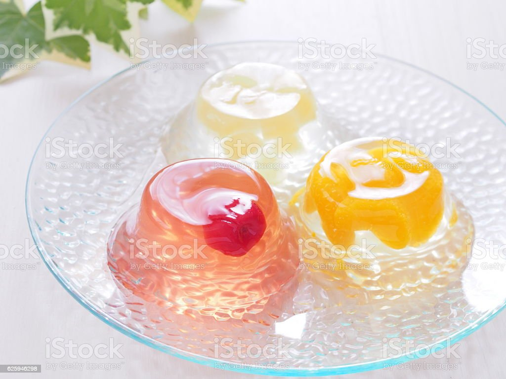 Jelly dessert Jelly dessert Apple - Fruit Stock Photo