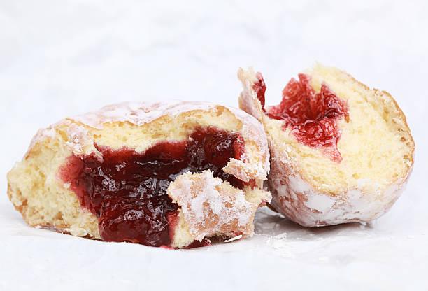 Jelly Donut Guts stock photo