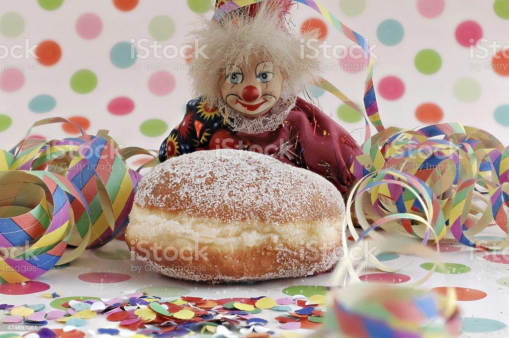 Gefullter Krapfen Berlin Und Clown Stock Fotografie Und Mehr Bilder
