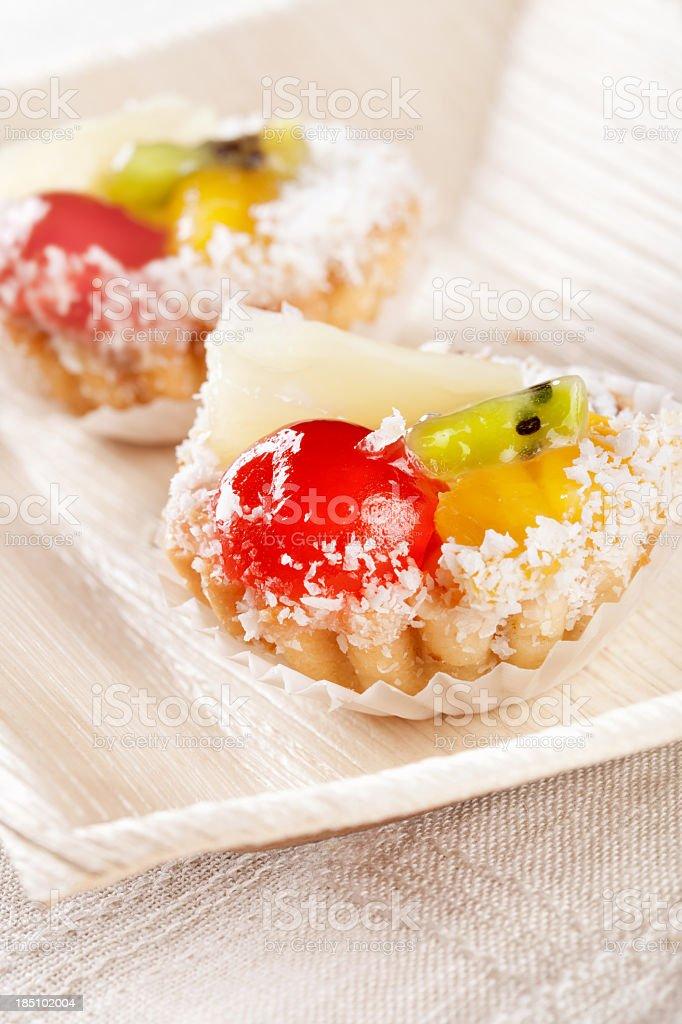 Jelly fruits dessert stock photo