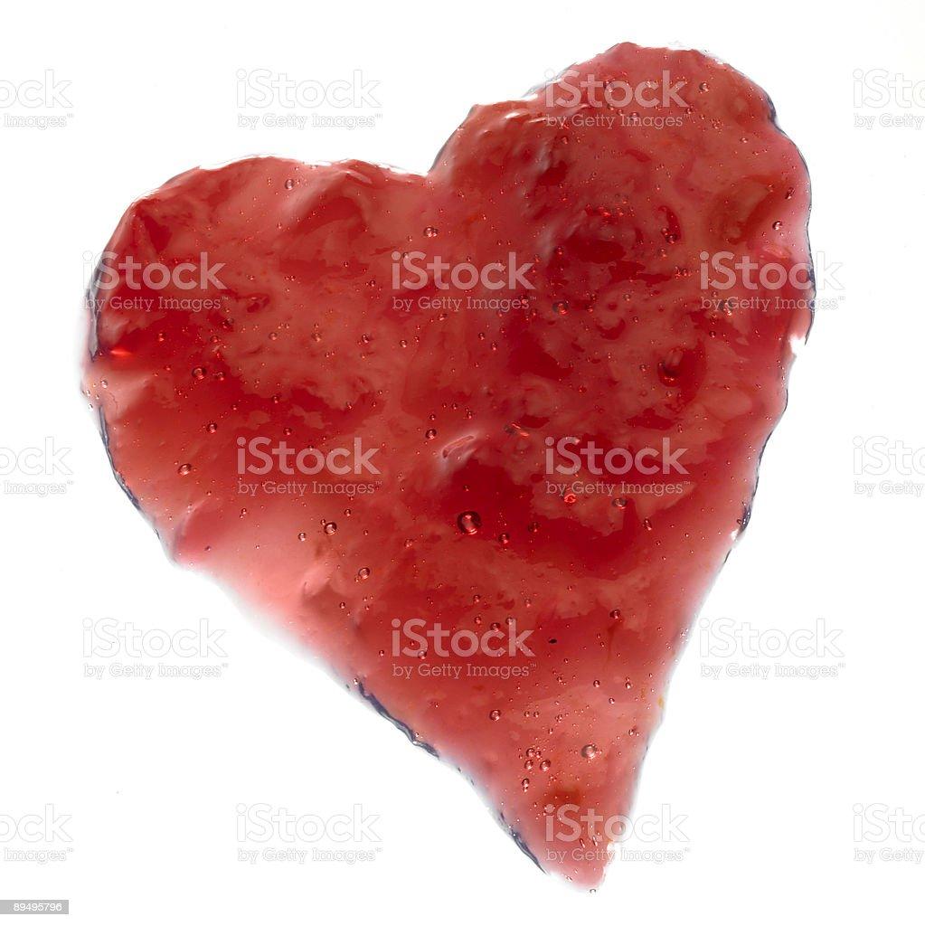jelly heart royaltyfri bildbanksbilder