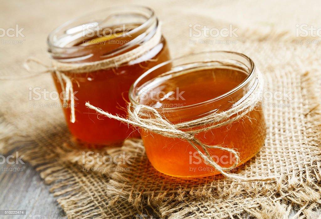 Jelly of dandelions stock photo