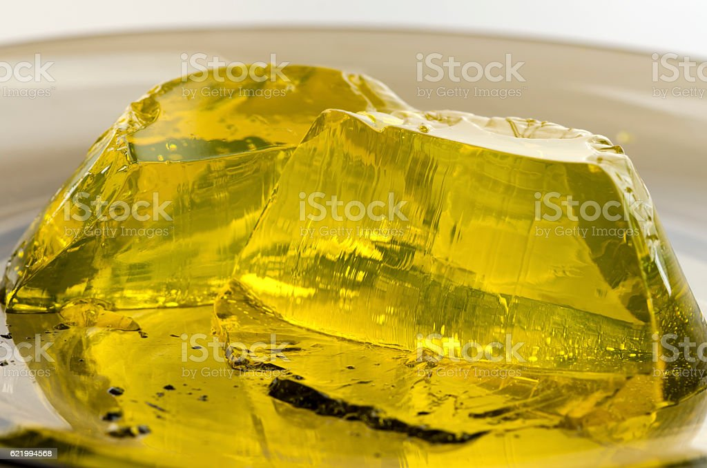 Jelly. Yellow colored stock photo