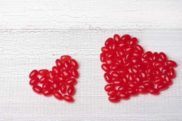 Jellybean Hearts stock photo