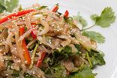 salad made of jellyfish and coriander