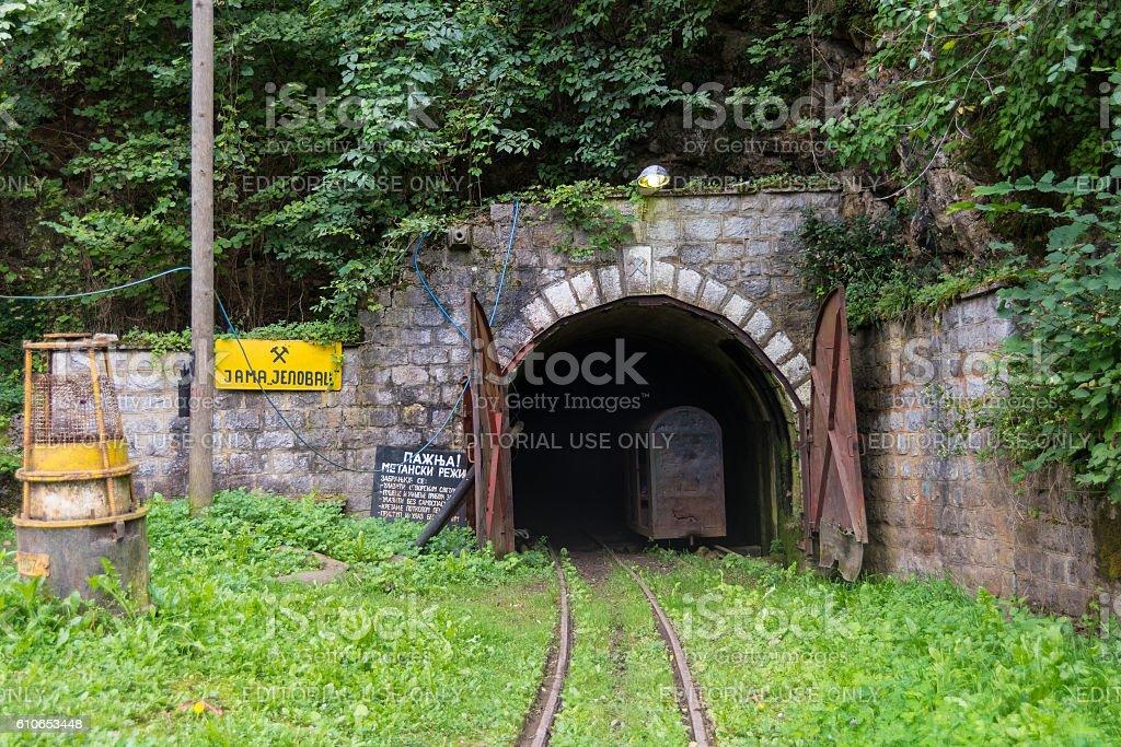 Jelovac Mine Entrance stock photo