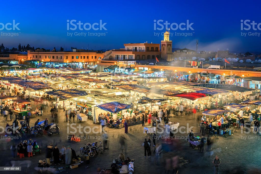 Jemaa El Fnaa, Marrakesh stock photo