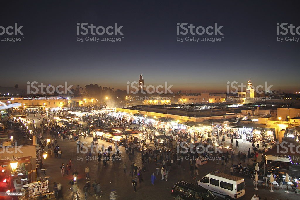 Jemaa el-Fnaa, Marrakech stock photo