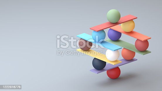 Jenga game isometric digital concept