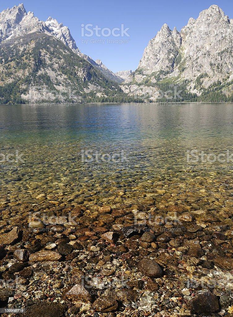 Jenny Lake, Grand Tetons, Wyoming royalty-free stock photo