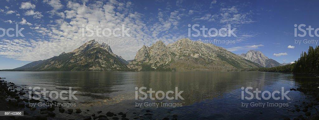 Jenny Lake Panorama stock photo