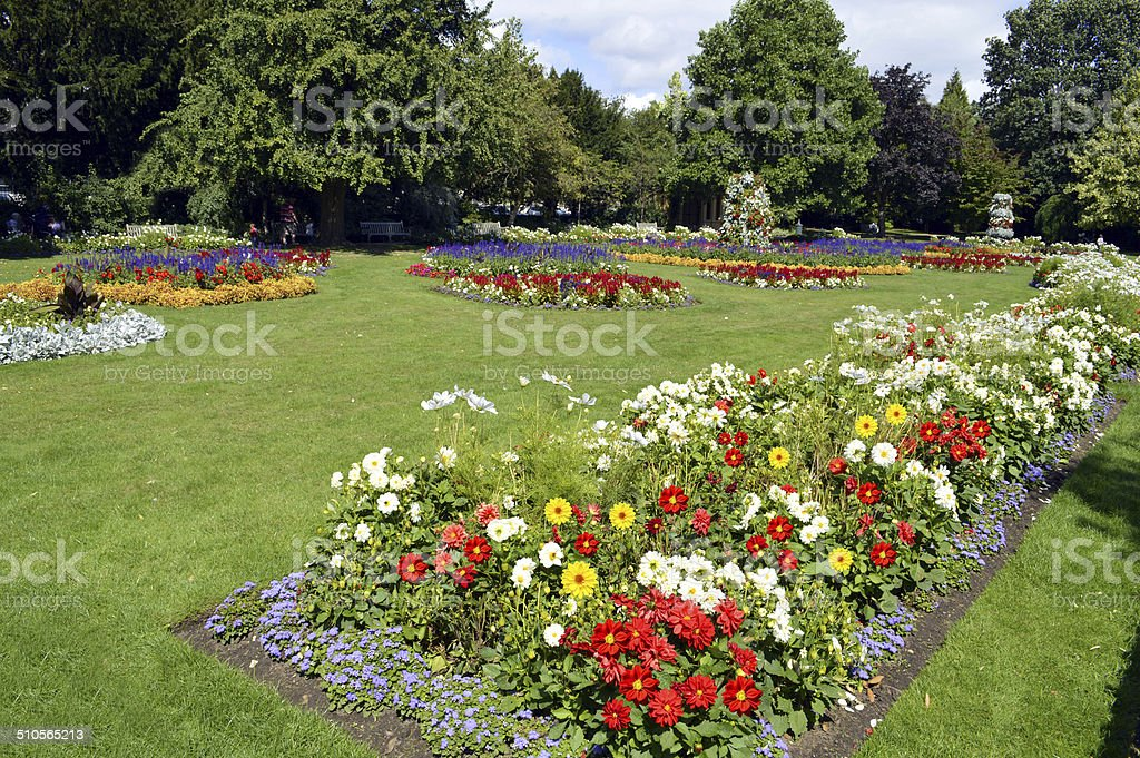 Jephson Gardens in Leamington Spa, Warwickshire stock photo
