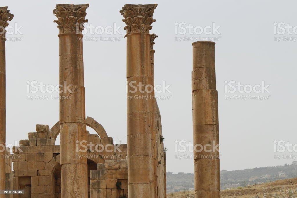 Jerash of the Jordanian city royalty-free stock photo