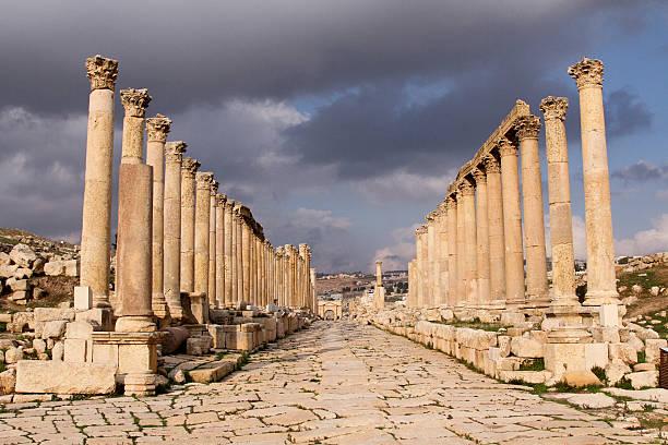 Jerash Temple stock photo