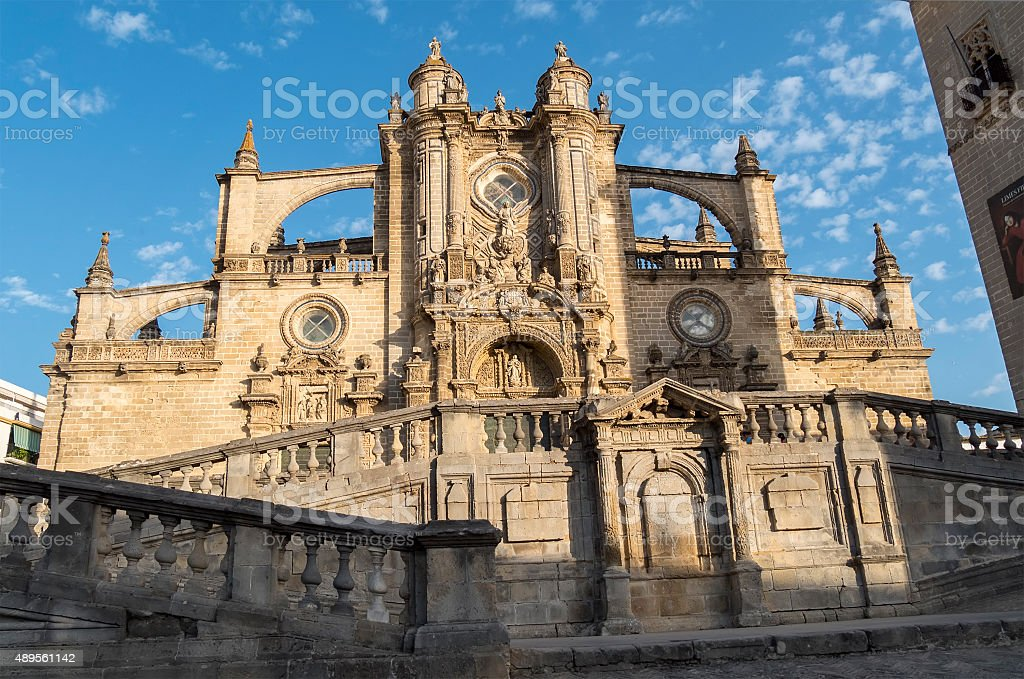 Jerez de la frontera Cathedral, Spain stock photo